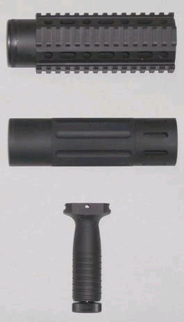CAR free float tube Fore rail pistol grip